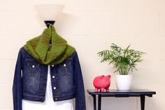 Hand Knitted Green Cowl Neck Warmer by JinniInTheLamp on Etsy, $29.50