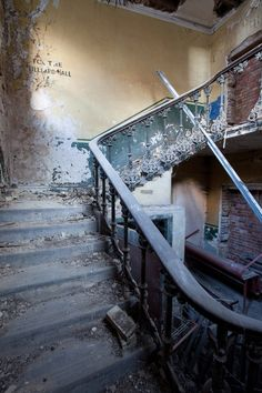 Old Stairwell to Waiting Room (later Billiard Hall) Peckham Rye Station designed by Victorian Architect, Charles Henry Driver in Vintage London, Old London, South London, Old Pictures, Old Photos, London History, Local History, Grey Gardens, London Photography