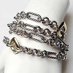 I have this in a necklace, which I can wrap around my wrist so it doubles as a bracelet