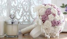 Crocheted wedding bouquet all finished!! I'm rather pleased with it! more on my blog: accordingtomatt.blogspot.com