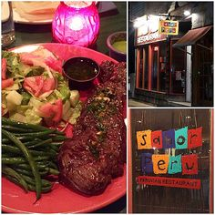 """""""We celebrated my mom's birthday @SaborPeruNJ in Rutherford, NJ. The food was delicious! We had tostones with guac, ceviche, and I had this skirt steak with chimichurri. SO GOOD! ❤️ #Paleo #primal #thisishowwereallyeat #21dsd"""" Photo taken by @dianesanfilippo on Instagram, pinned via the InstaPin iOS App! http://www.instapinapp.com (04/04/2015)"""