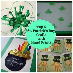 Top 5 Easy St. Patrick's Day Crafts for Kids - with Hand Prints!