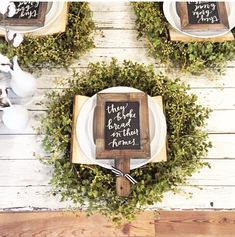Details-Place setting | Love this idea of leaving a personalized note at each seat
