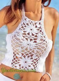 TRICO y CROCHET-madona-mía: Crochet blusa mujer