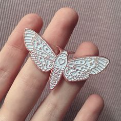 Image of Heart moth - rose gold