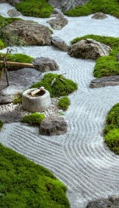 76 Beautiful Zen Garden Ideas For Backyard Beautiful Front Yard Rock Garden Landscaping Ideas Asian Garden, Japanese Rock Garden, Zen Rock Garden, Zen Garden Design, Japanese Garden Design, Chinese Garden, Landscape Design, Japanese Gardens, Landscape Bricks
