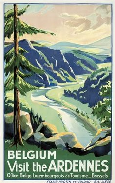 Vintage Travel Poster - The Ardennes - Belgium.