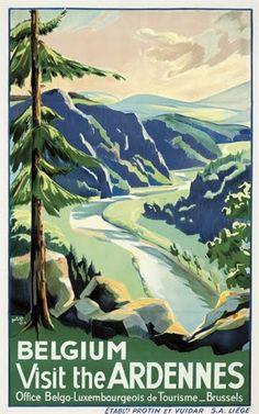 Vintage Travel Poster - The Ardennes - Belgium.