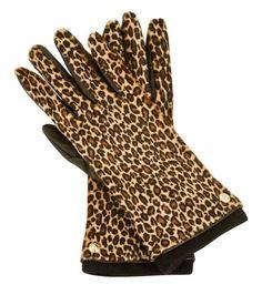 Hair calf gloves
