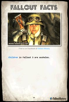 """Fact""""  Even more """"facts >>http://ift.tt/1gAiljD  fallout fallout facts fallout history fallout 3 twitter"""