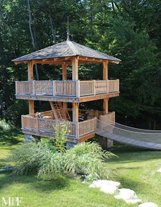 Tents & Treehouses, Mark P. Finlay Architects, Mark P. Finlay Interiors, two-story treehouse, outdoor living, backyard, fun