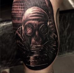 this tattoo created a very realistic, and fairly disturbing, portrait. are you my mommy?