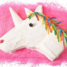 How to make a unicorn birthday cake with pink jellybeans and a sugar cone