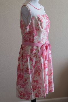 NWT Signature By Robbie Bee Floral Dress Women's Size 14 Summer Flowers   | eBay