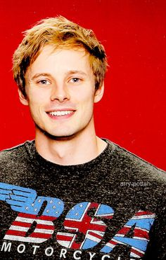 Bradley James smiling =D