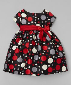 Look what I found on #zulily! Red & Black Polka Dot Dress - Infant #zulilyfinds