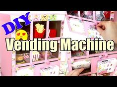 DIY Squishy Vending Machine Tutorial Cardboard Homemade - YouTube