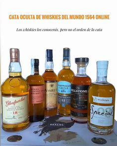 🌍🌎🌏Te proponemos un nuevo reto 👉Cata de Whisky Oculta Online 🌐del Mundo🌐 😰Conoces la selección de whiskies, pero no el orden de la cata, ya que las muestras que te enviaremos sólo indicarán los números del 1 al 6. 🔎Con las pistas que te daremos durante la cata, seguro que los descubres 👍🔍 ⠀ 🤹♂️FÁCIL, DIVERTIDO Y FLEXIBLE ⠀ 📅Cata Oculta 1564 - Días: Cuando te vaya bien. Acordamos día y hora. ¡Así de fácil! ⠀ Cata de whiskies de India, Japón, Suecia,... a ciegas. ¡Planazo! 🙆♂️ Whisky, Cata, Whiskey Bottle, India, Wine, Drinks, World, Sweden, Occult