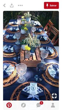 Outdoor dinner decoration