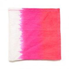 Buy Now - Kim Seybert Orange/Pink/White Ombre Napkin - Set of 4 | Fine Linen and Bath | Fine Linens and Luxury Bedding Showroom