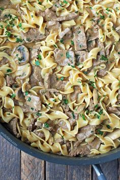 This decadent, lightened up one-pot Beef Stroganoff is the definition of comfort food. Under 400 calories or 9 Weight Watchers SmartPoints! www.emilybites.com