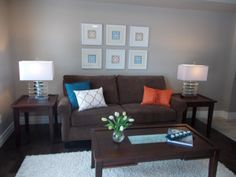 Sell the Dream: 7 Luxury Agent Staging Tips that Work Anytime, Anywhere Living Area, Living Room, Home Staging Tips, Brown Couch, Condo Decorating, Family Room, Luxury, Simple, Modern