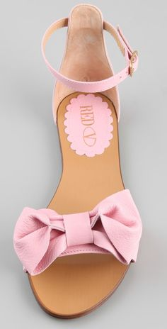 RED Valentino Bow Flat Sandals | SHOPBOP