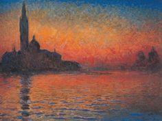 """Claude Monet. """"Crepúsculo en Venecia"""" 1912"""