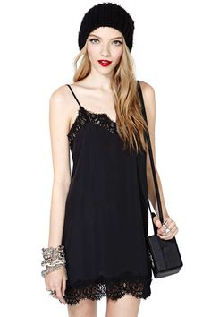 Last Chance Slip Dress BLACK