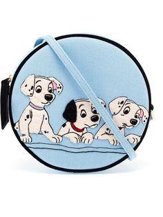 Olympia Le-tan - Dalmatians Embroidered Felt Drum Bag