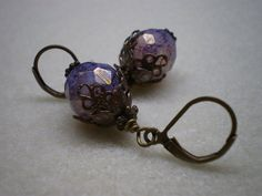 Purple Picasso Glass Beads ($14.99)