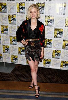 WHO: Bella Heathcote WHAT: Rodarte WHERE: Pride and Prejudice and Zombies photocall, Comic-Con WHEN: July 11, 2015