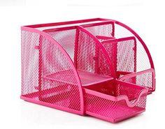 PAG Steel Mesh Desk Organizer Office Supplies Pen Holder (6-part Pink) PAG http://www.amazon.com/dp/B00M0JXTPC/ref=cm_sw_r_pi_dp_C3rWwb17W3SC2