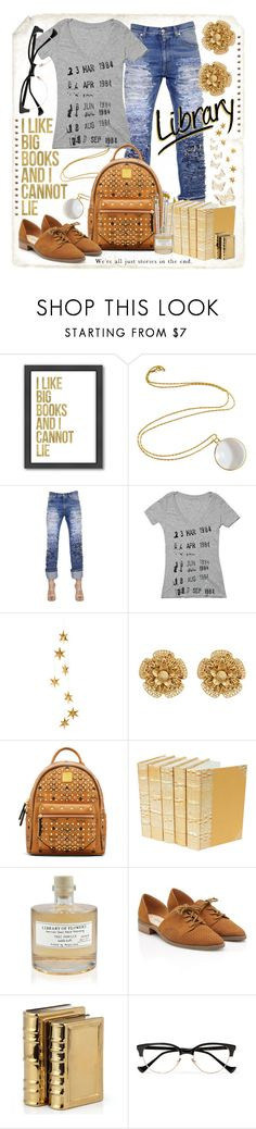 """""""1984"""" by goldenopal ❤ liked on Polyvore featuring Americanflat, Alexander McQueen, Livingly, Miriam Haskell, MCM, Library of Flowers and Cutler and Gross"""