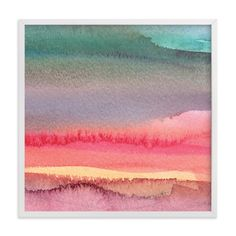"""""""Desert and Mountains"""" - Art Print by Katherine Moynagh in beautiful frame options and a variety of sizes."""