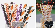 """THEY""""RE BACK! Vintage Paper Straws in Chevron, Stripe, Dots & Multipacks - Pack of 25"""