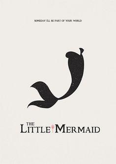 The Little Mermaid Poster Disney art minimalist by AbbieImagine