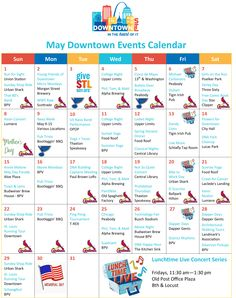 May Downtown Events Calendar