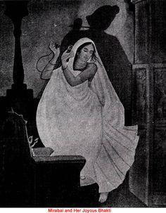 Mirabai and Her Joyous Bhakti Krishna Love, Krishna Art, Radhe Krishna, School Painting, Painting Art, Paintings, Indian Art, Saints, Spirituality