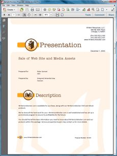Selling a Web Site and Digital Assets Proposal - Create your own custom proposal using the full version of this completed sample as a guide with any Proposal Pack. Hundreds of visual designs to pick from or brand with your own logo and colors. Available only from ProposalKit.com (come over, see this sample and Like our Facebook page to get a 20% discount)