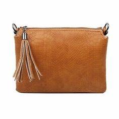 Damen Trio Clutch Tasche Schultertasche Crossover Pochette Schlangen-optik Bag for sale Large Clutch Bags, Crossover Bags, Crossbody Bag, Satchel, Small Shoulder Bag, Shoulder Backpack, Cloth Bags, Fashion Bags, Leather Bag