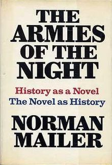 First edition of Armies Of The Night by Norman Mailer, 1968.
