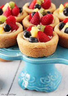 Fruit Cheesecake Sugar Cookie Cups | Brides.com