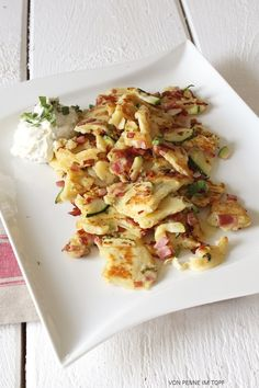 Zucchini - Schinken - Schmarrn