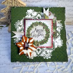 Merry Christmas card by Agnieszka Bellaidea http://bellaideascrapology.blogspot.com/2015/12/merry-christmas-card-for-13arts.html