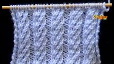 Knitting Stiches, Knitting Videos, Baby Knitting, Knitting Designs, Knitting Projects, Crochet Projects, Bobble Stitch, Chain Stitch, Stitch Patterns