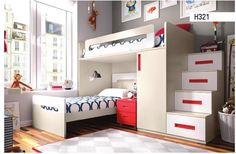 Here are 15 Cool bunk beds design and ideas. Bunk beds ideas and room design which you may like or want for your house. Small space room ideas with bunk beds. Bunk Beds For Boys Room, Adult Bunk Beds, Bunk Beds With Stairs, Kid Beds, Kids Bedroom, Best Changing Table, Baby Crib Mattress, One Bed, Loft Spaces