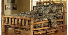 Log Cabin Rustics offers one of the largest selections of log furniture, reclaimed barn wood furniture, and other rustic furniture and cabin decor anywhere. Camo Bedding, Rustic Bedding, Bedding Sets, Bedroom Rustic, Bar Outdoor, Camo Rooms, Log Furniture, Black Furniture, Furniture Makers
