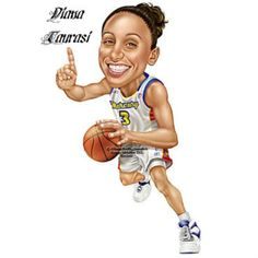 Image result for basketball caricature girls