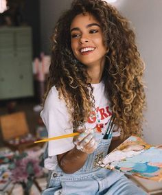 Curly Hair Styles, Curly Hair With Bangs, Haircuts For Curly Hair, Long Curly Hair, Curly Girl, Diy Hairstyles, Natural Hair Styles, Girls With Curly Hair, Foto Face